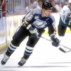 28 Oct 1998:   Leftwinger Benoit Hogue #33 of the Tampa Bay Lightning in action during the game against the Anaheim Mighty Ducks at the Arrowhead Pond in Anaheim, California. The Mighty Ducks defeated the Lightning 5-3. Mandatory Credit: Elsa Hasch  /Allsport