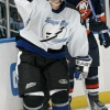 UNIONDALE, NY - NOVEMBER 6: Eric Perrin #9 of the Tampa Bay Lightning scores a thurd period gol in route to 5-1 win over the New York Islanders on November 6, 2006 at the Nassau Coliseum in Uniondale, New York. (Photo by Bruce Bennett/Getty Images)