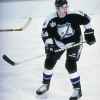 11 Mar 1999:  Jason Bonsignore #64 of the Tampa Bay Lightning in action during the game against the Buffalo Sabres at the Marine Midland Arena in Buffalo, New York. The Lightning defeated the Sabres 5-2. Mandatory Credit: Rick Stewart  /Allsport
