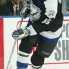 2003 Season:  Player Nikita Aleexev of the Tampa Bay Lightning.  (Photo by Bruce Bennett Studios via Getty Images Studios/Getty Images)