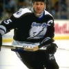 11 Dec 1995:  Leftwinger Paul Ysebaert of the Tampa Bay Lightning moves down the ice during a game against the Buffalo Sabres at Memorial Auditorium in Buffalo, New York.  The Lightning won the game, 6-1. Mandatory Credit: Rick Stewart  /Allsport