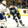 11 Dec 1995:  Leftwinger Paul Ysebaert of the Tampa Bay Lightning (right) moves down the ice during a game against the Buffalo Sabres at Memorial Auditorium in Buffalo, New York.  The Lightning won the game, 6-1. Mandatory Credit: Rick Stewart  /Allsport