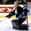 Lightning goaltender Rick Tabaracci #31 in game action  at the Molson Centre during the 1996-97 season (Photo by Denis Brodeur/NHLI via Getty Images)
